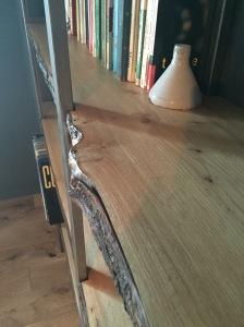 Estantería madera y metal